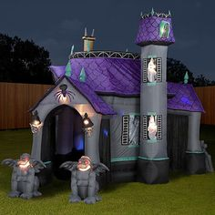 halloween inflatable bounce house castle fun slide commercial haunted in toys hobbies outdoor toys structures inflatable bouncers