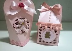 Embalagem Ursinha Marrom e rosa