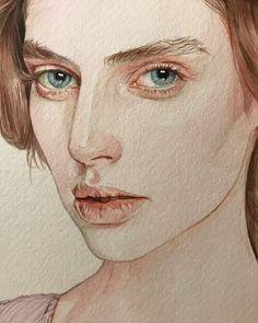 Watercolor Face, Watercolor Artwork, Watercolor Portraits, Watercolor Portrait Tutorial, Art Inspo, Inspiration Art, Colorful Drawings, Art Drawings, L'art Du Portrait