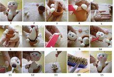 Poes in bloempot fondant tutorial (alleen eetbare ogen/snorharen bij maken )
