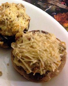 Parmesan-topped Stuffed Mushrooms