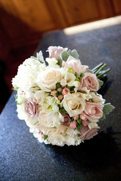 Wedding flowers - roses freesia
