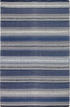 This recycled cotton rug adds softness to a modern space and makes stylish use of discarded textiles. White Area Rug, Blue Area Rugs, Blue And White Rug, Black White, Best Weave, Traditional Area Rugs, Striped Rug, Home Decor Online, Eco Friendly House