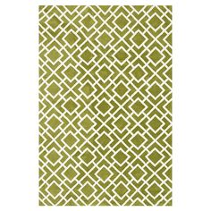 Rug with a latticework motif.   Product: RugConstruction Material: 100% PolyesterColor: Peridot