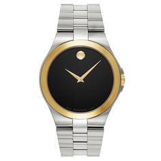 Movado Silvertone Swiss Quartz Men's Watch