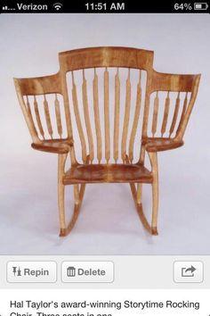Grandma chair. A kid for each arm!