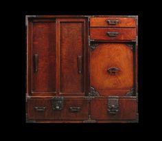 Japanese scholar's chest. Room for books.