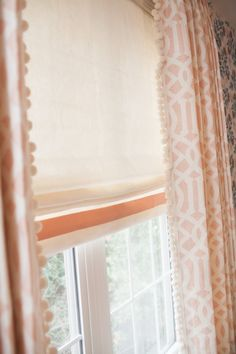 Comfy Cozy Couture: Nursery Reveal with Kalon Studios. Custom draperies feature Samuel and Sons Pom Pom Fringe.