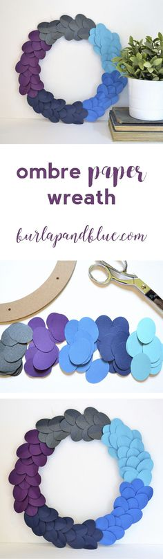 ombre paper wreath + home making tips with Mrs. Meyer's Clean Day®