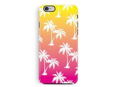 iPhone 6 Protective Case, Protective iPhone 5 Case, Palm tree Phone case, Miami iPhone 6 Case, Bumper iPhone case, Hawaii iphone 6 cover