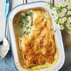 Chicken and asparagus pie