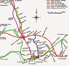 Nottingham's once extensive railway network Nottingham City, Disused Stations, Steam Railway, Model Train Layouts, History Photos, Train Station, Model Trains, How To Plan, Victoria