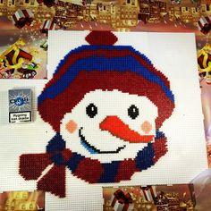 Winter snowman perler beads by Steffanie King