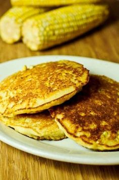 Southern Hoecakes Recipe - Also called corn cakes or Johnny cakes, these make a delicious appetizer or side dish topped with butter, or sour cream or a little salsa -  you decide! I just love these treats made with fresh corn and hot off the griddle!  from addapinch.com