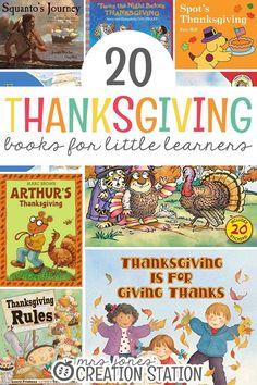 20 Thanksgiving Books for Little Learners - Mrs. Jones Creation Station