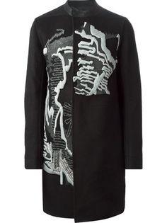 Rick Owens Embroidered Coat - Julian Fashion - Farfetch.com
