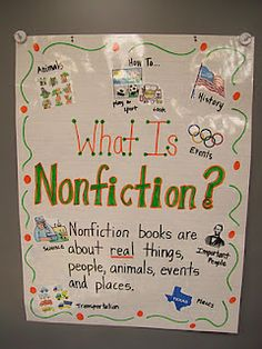 Nonfiction - when I worked at the bookstore customers were always asking where the nonfiction section was.  Half the darn store was nonfiction.  Could you be more specific, please?