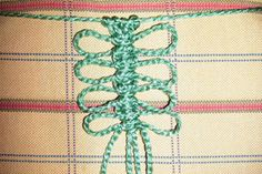 macrame The Square Knot braid with Picots