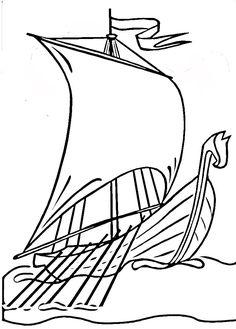 Viking Ship Drawing
