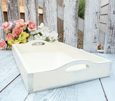 Hey, I found this really awesome Etsy listing at https://www.etsy.com/listing/158756022/shabby-chic-tray-antiqued-white-wood