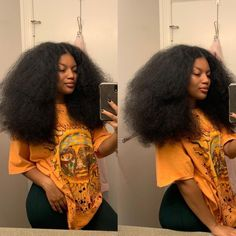 """Natural Hair Mag on Instagram: """"When they doubted how long your hair really is... BLOW 👏 IT 👏 OUT 👏  • • @mocurlsss • • • #naturalhairmag…"""""""