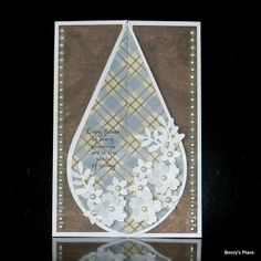 A couple of weeks ago I showed you how to make a teardrop card with a trifold base. Today I want to show you another version of theteardr...