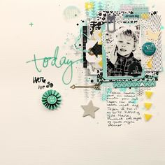 #papercraft #scrapbook #layout.  Today by christin.gronnslett at @Studio_Calico