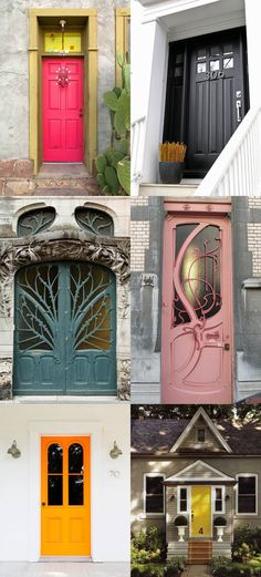 Oh my gosh, can I PLEASE have the mauve one?  But let's be honest, all of these doors are GORGeous.