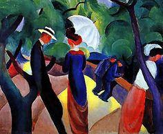 August Macke: Promenade (1913)