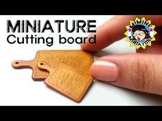 미니어쳐 도마 만들기 Miniature - Cutting board - YouTube