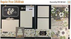 20% OFF TODAY Pre-made Wedding Scrapbook Page by ArtsyAlbums