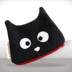Cute cat zipper pouch  Free shipping  Ready by LaPetiteEcharlotte, $27.00
