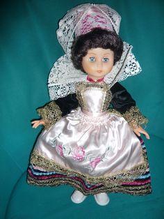 Poupée PONT AVEN aux yeux bleus Hauteur 43 cm coiffe comprise | eBay