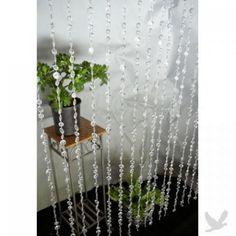 3' x 6' Foot Beaded Curtain Panels - Crystal Large Diamond Cut Acrylic Beaded Curtains BEST SELLER! $36.80