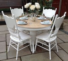 hygiene round shape space saving dining t dining room table and rh pinterest com round shabby chic dining table and chairs shabby chic round dining table uk