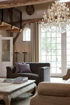 Classical Style & Neutral Colors (Love this coffee table-similar colors in our living room)