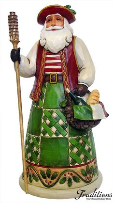 JIM SHORE  ITALIAN SANTA  Resin 7x3""
