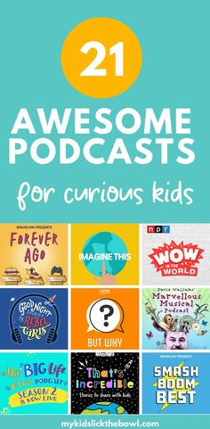 A collection of 21 great podcasts for kids. Interesting Educational Podcasts. Mindfulness and mindset podcasts. True stories & fictional tales they are all fantastic listening and will keep your kids engaged #podcasts #kidsactivities #noscreentime #activitiesofr kids
