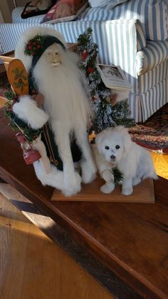 Lynn Haney RARE Santa figure doll  SNOWBOUND DOG