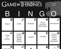 Game of Thrones Bingo... Seriously. And for each major house #examinercom #gameofthrones