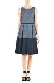 Floral Print Dresses, Colorblock Dresses Shop womens long sleeve dresses - Women's Dresses & Tops in Misses, Plus, Petite & Tall CL0037382 | eShakti