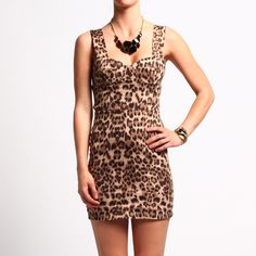 Leopard Dress is adorable, just wish I had the shape to flaunt this!