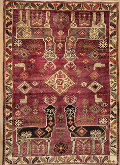 Nomadischen handgeknüpft Teppich 218 x 153 cm carpet alfombra oriental