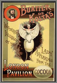 old poster of circus