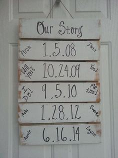 Such a cute idea! Depending on how you make it you could add to it if you have DIY Wood Signs Add Cute Depending idea Home Projects, Home Crafts, Diy Home Decor, Cute Wedding Ideas, Casual Wedding, Wedding Shoes, Trendy Wedding, Diy Wedding, Wedding Gifts