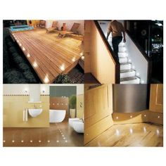 SET OF 10 WATERPROOF LED WHITE DECK LIGHTS / DECKING / PLINTH / KITCHEN LIGHTING SET Rating: 4.2 of 5 stars Product price: Check new