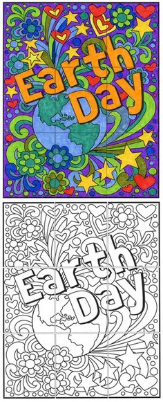 FREE! Try out one of my collaborative templates and see how easy it is to make large and colorful mural. This mini Earth Day mural has just nine pages, but it will show you how my larger ones work. Just print out the pages, trim to the art, color and tape together to make one large 24″ … Read More