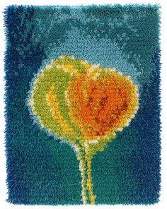Rya Rug, Wool Rug, Woven Wall Hanging, Living Room Art, Punch Needle, Rug Hooking, Textile Art, Dandelion, Weaving