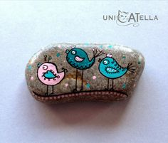 Painted stone by Unicatella - little magnets