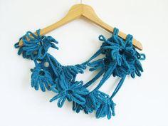 Crochet Scarf / Green Flower Scarf / by AnatolianAccessories, $24.90